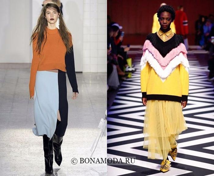 Тенденции моды осень-зима 2017-2018: цветной колор блок