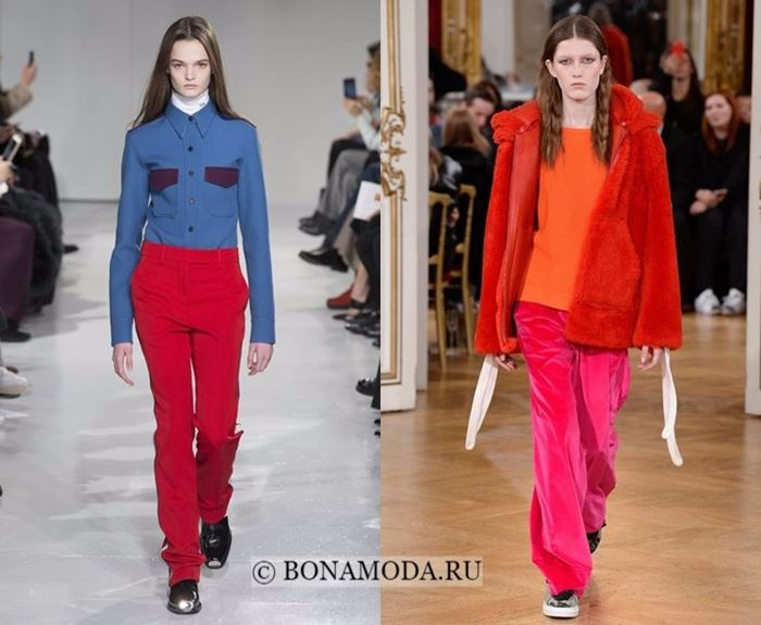 Тенденции моды осень-зима 2017-2018: контрастный колор блок