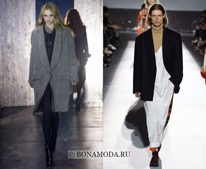 Тенденции моды осень-зима 2017-2018: широкие плечи