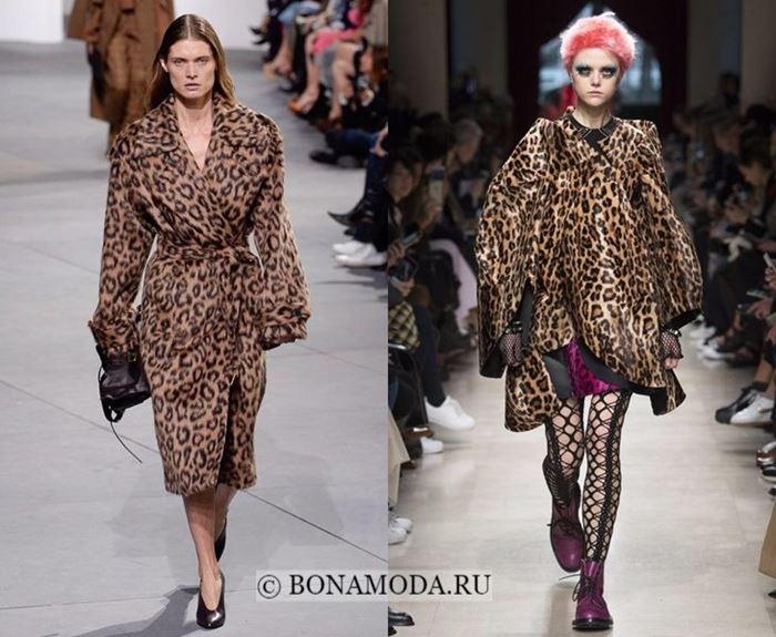 Тенденции моды осень-зима 2017-2018: леопардовые пальто