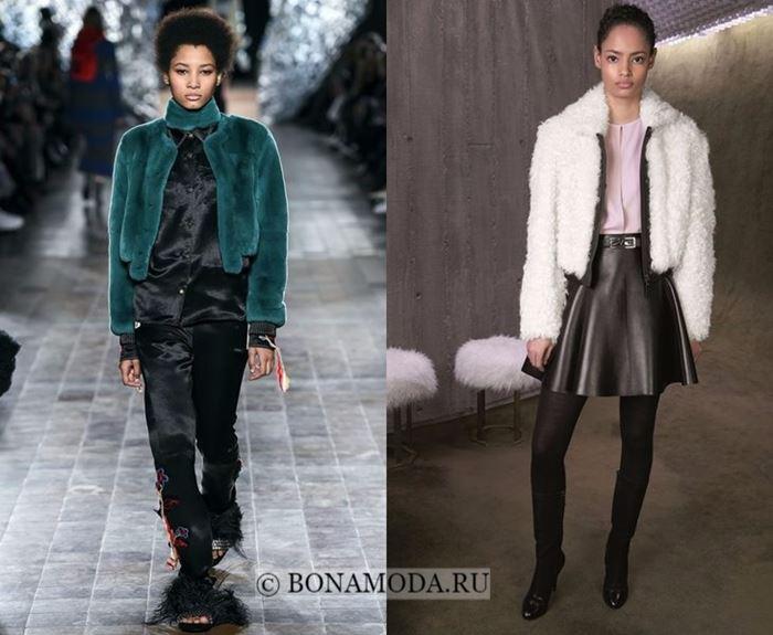 Тенденции моды осень-зима 2017-2018: короткие меховые куртки