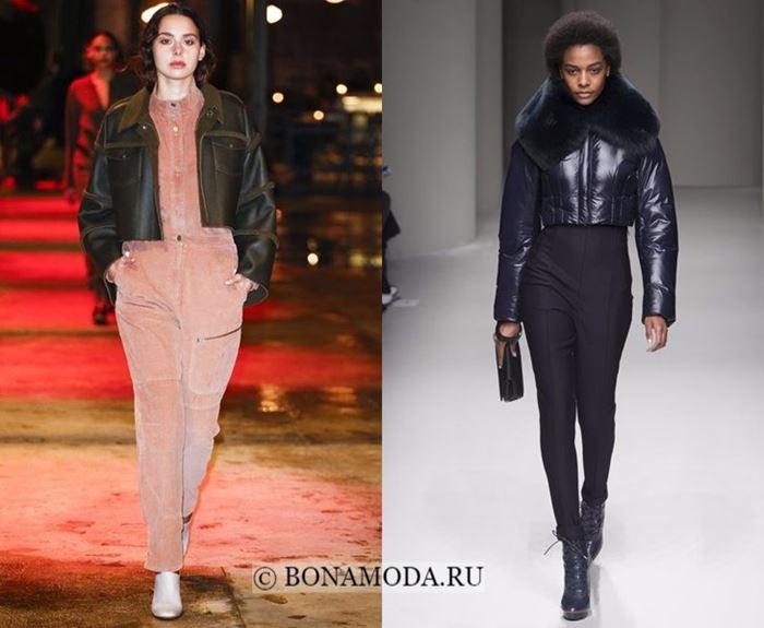 Тенденции моды осень-зима 2017-2018: короткие кожаные куртки