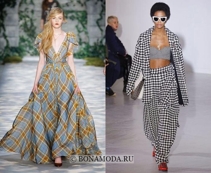 Тенденции моды осень-зима 2017-2018: принт клетка