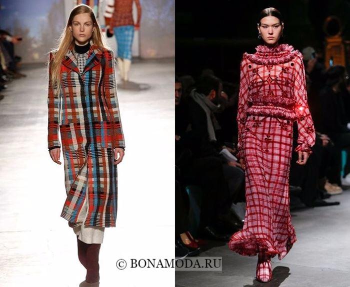Тенденции моды осень-зима 2017-2018: клетчатый принт