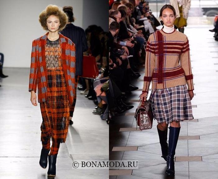 Тенденции моды осень-зима 2017-2018: клетчатый наряд