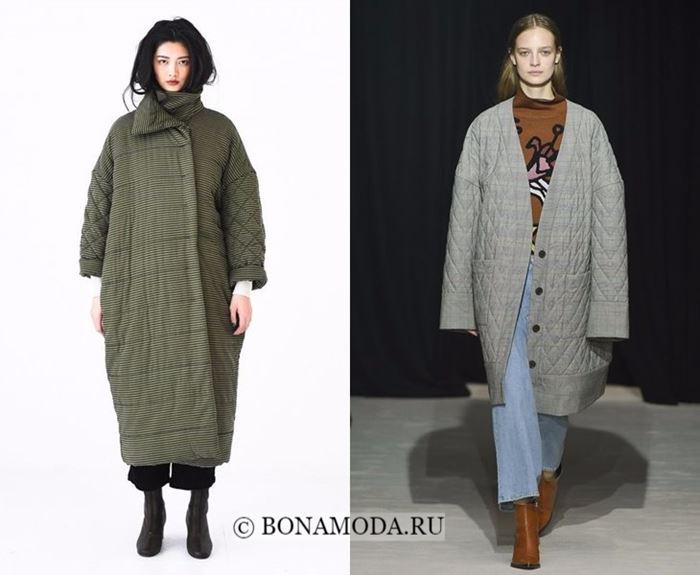 Тенденции моды осень-зима 2017-2018: длинные стёганые пальто