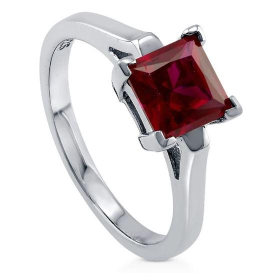 помолвочное кольцо из серебра с рубином