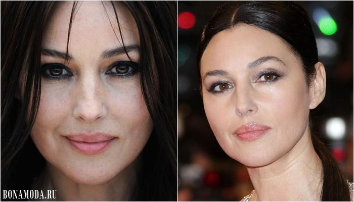Цвет теней для карих глаз: макияж Моники Беллуччи