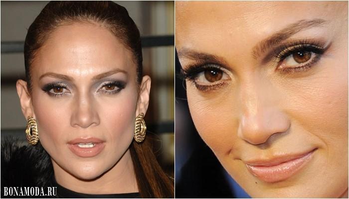 Цвет теней для карих глаз: макияж Дженнифер Лопес