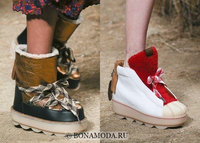 Модная женская обувь осень-зима 2017-2018: луноходы