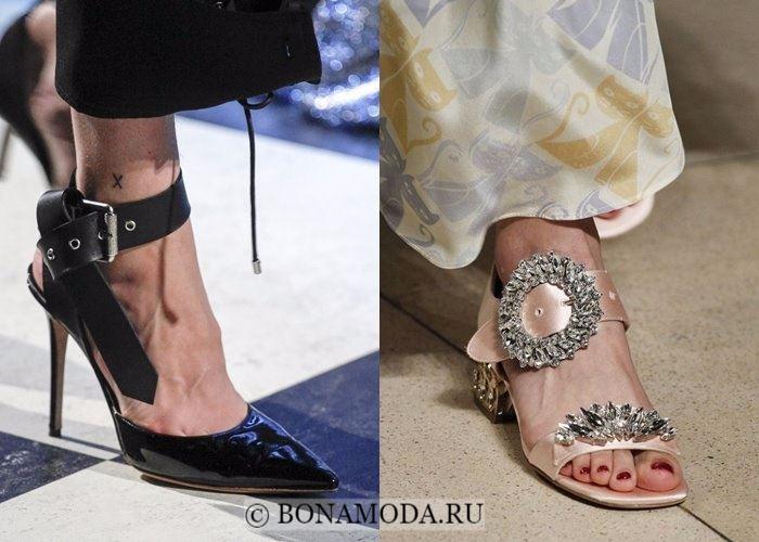 Модная женская обувь осень-зима 2017-2018: туфли с крупными пряжками