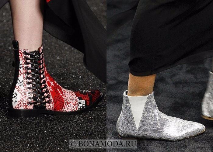 Модная женская обувь осень-зима 2017-2018:  ботильоны челси