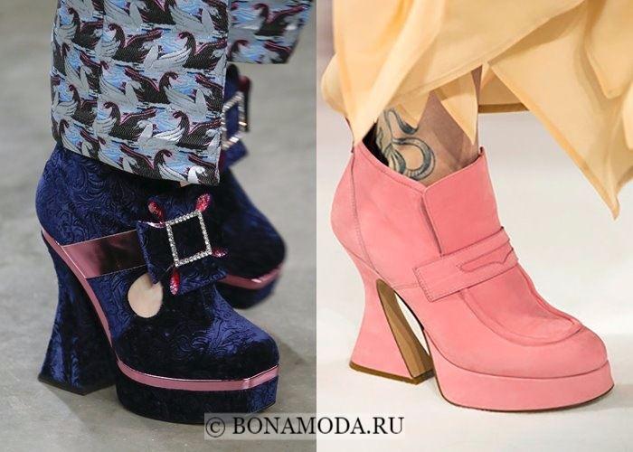 Модная женская обувь осень-зима 2017-2018:  ретро башмаки