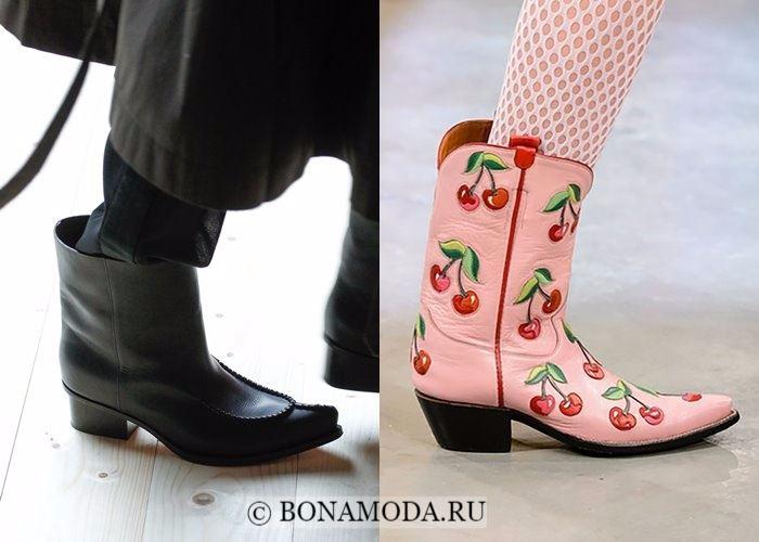 Модная женская обувь осень-зима 2017-2018: ковбойские сапоги