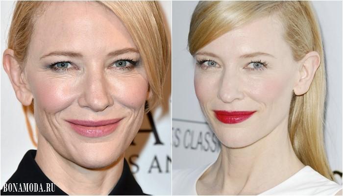 Нависшее веко: неподходящий макияж глаз Кейт Бланшетт - отсутствие теней прибавляет возраст