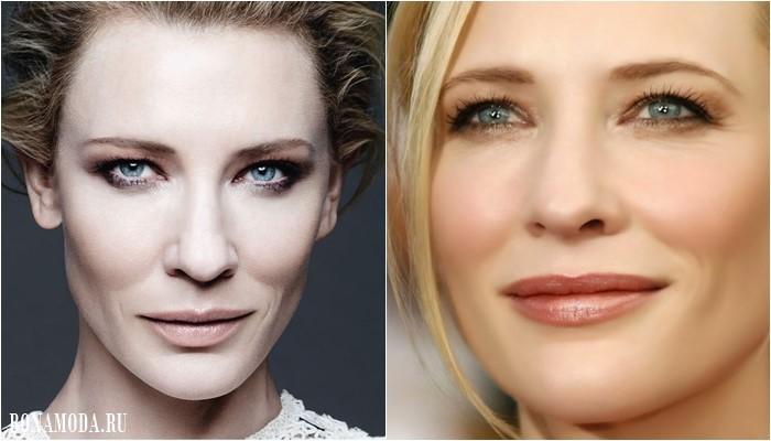 Нависшее веко: подходящий макияж глаз Кейт Бланшетт - дымчатый смоки айз делает лицо моложе и выразительнее