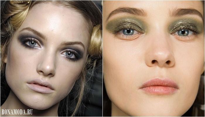 Цвета теней для серых глаз: серые и светло-зеленые