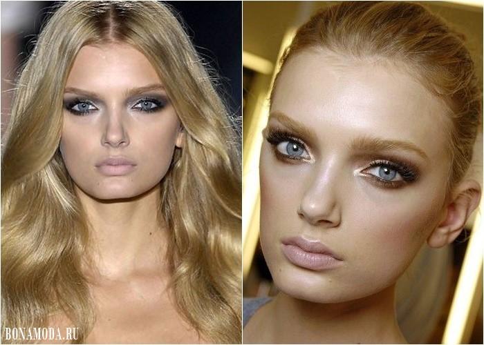 Цвета теней для серых глаз: макияж Лили Дональдсон