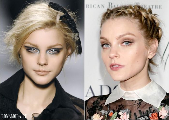 Цвета теней для серых глаз: макияж Джессики Стэм