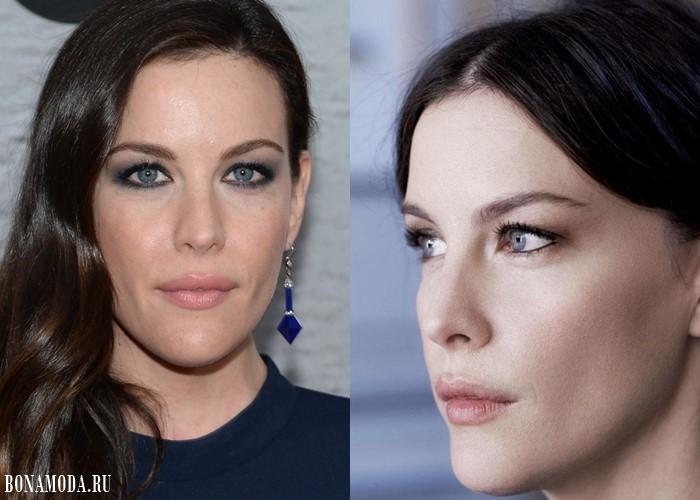 Цвета теней для голубых глаз: макияж Лив Тайлер