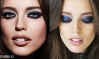 Цвета теней для голубых глаз: макияж знаменитостей