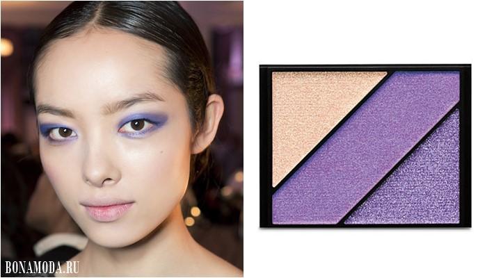 фиолетовые и лиловые тени для карих глаз