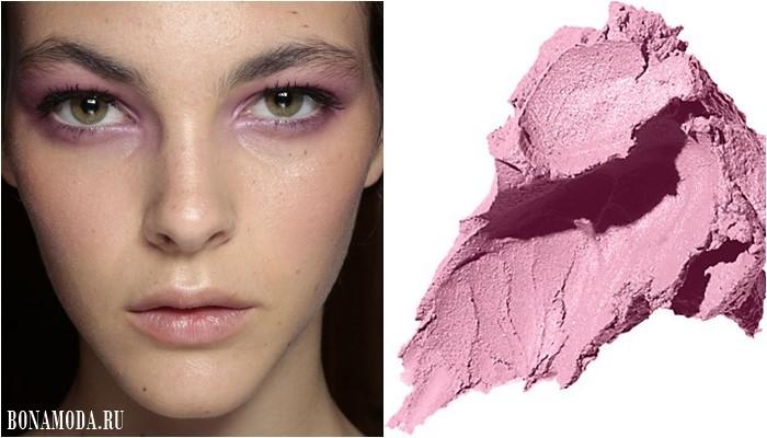 розовые тени для светло-карих глаз