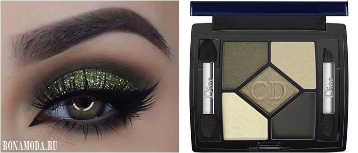 Цвет теней для зеленых глаз: нейтральные тёплые оттенки хаки