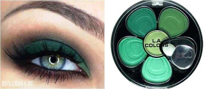 Цвет теней для зеленых глаз: яркие зеленые оттенки - травяной, неоновый
