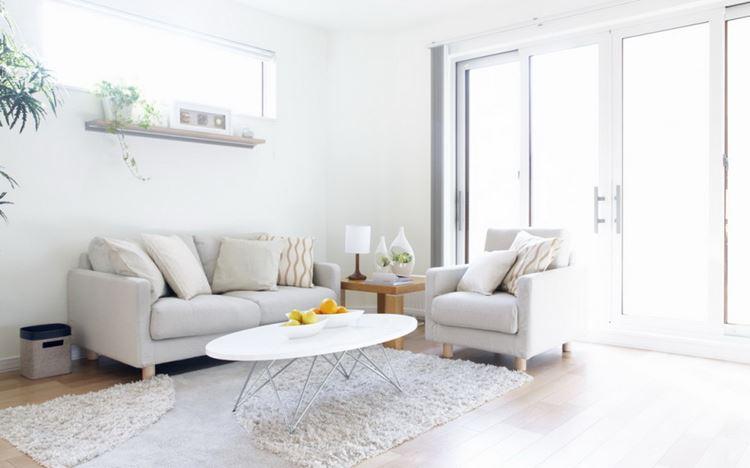 Белый диван в интерьере: ослепительная белая гостиная с уютным и минималистичным дизайном