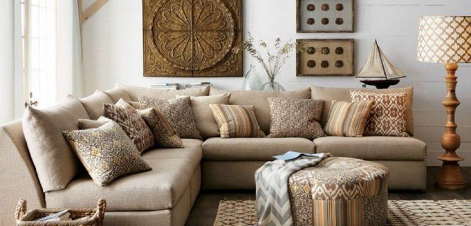 Бежевый диван в интерьере: уютная универсальность