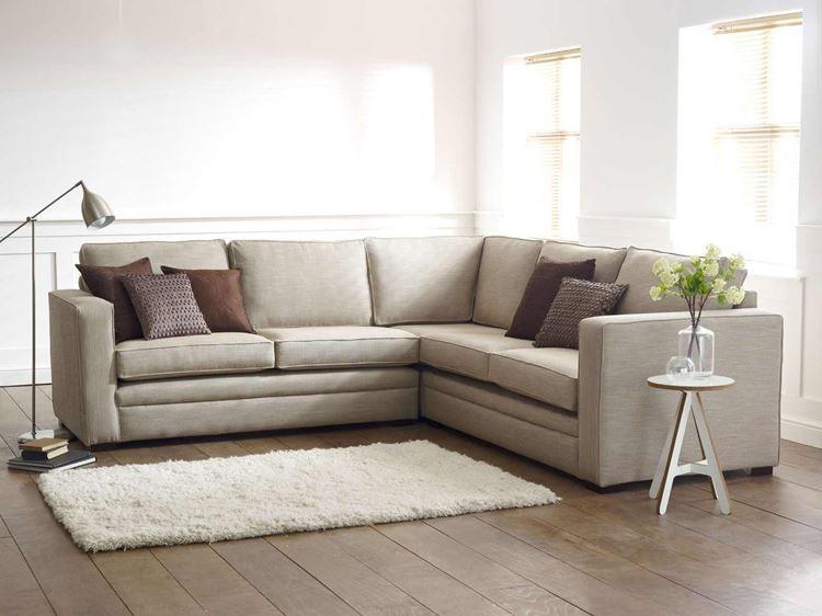 Бежевый диван в интерьере: скандинавский минимализм с угловым диваном