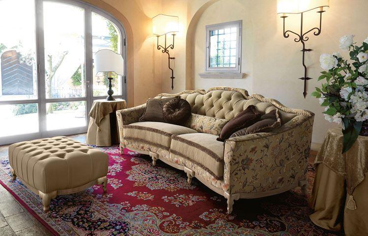 Бежевый диван в интерьере: стиль шебби шик
