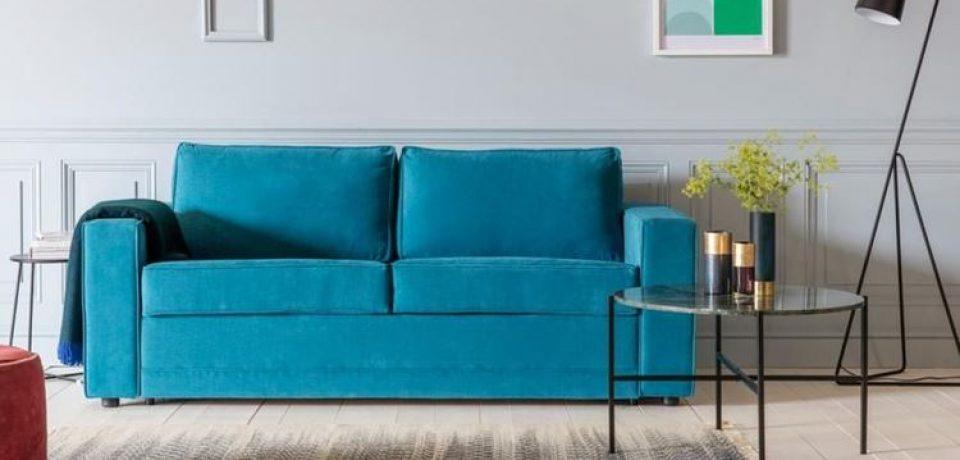 Бирюзовый диван в интерьере: ослепительная роскошь