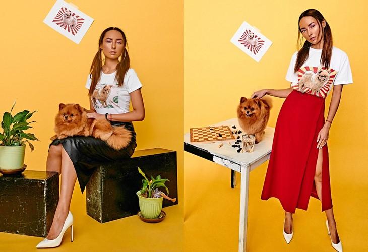 Поп-арт футболки с домашними животными Pets Tee: собака шпиц