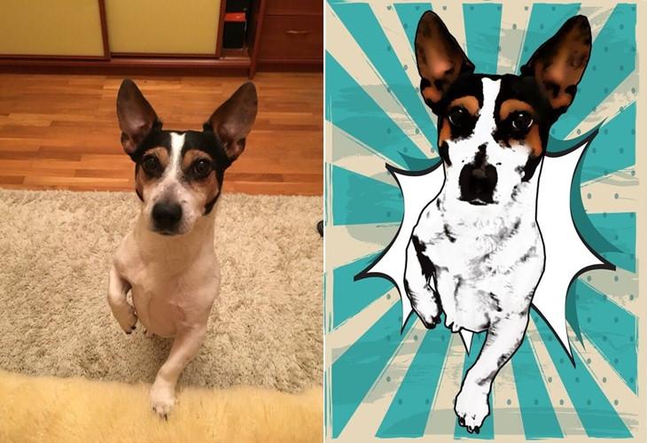 Поп-арт футболки с домашними животными Pets Tee: терьер