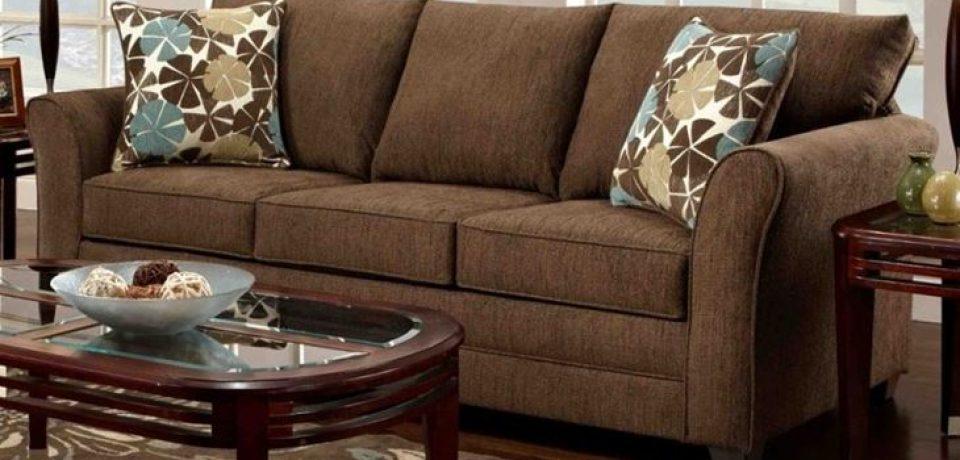 Коричневый диван в интерьере: шоколадная гостиная