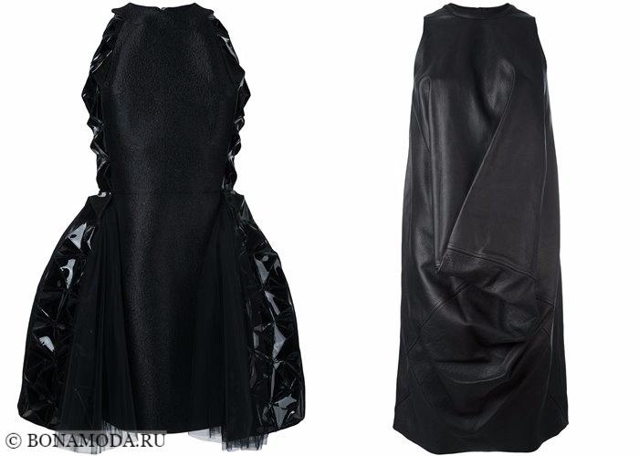 Кожаные платья 2017-2018: короткие коктейльные авангардные