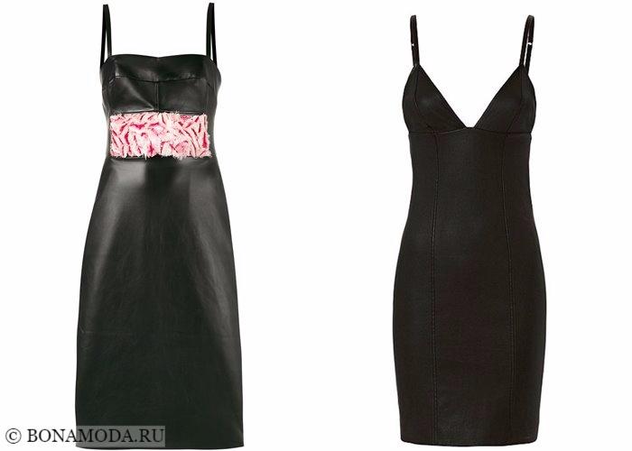 Кожаные платья 2017-2018: облегающие сарафаны