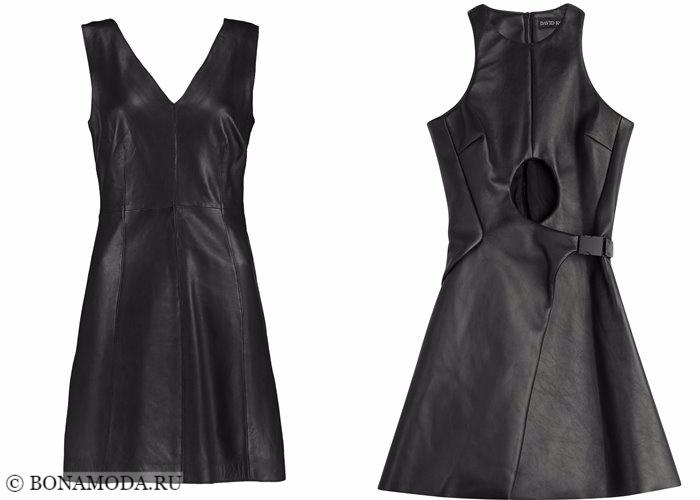 Кожаные платья 2017-2018: короткие черные мини