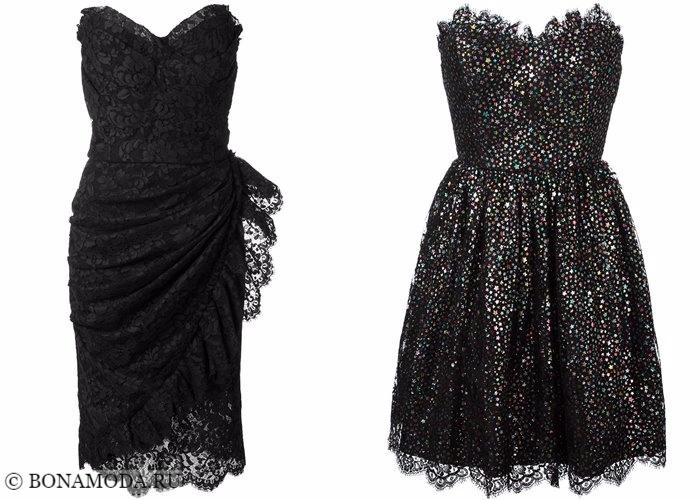 Кружевные платья 2017-2018: черные коктейльные