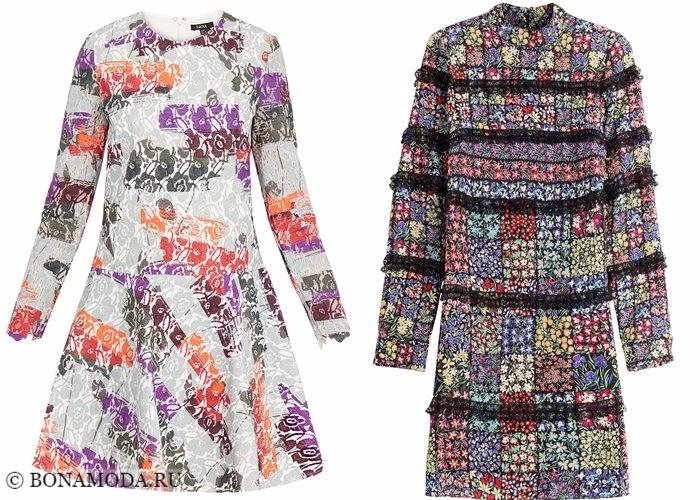 Кружевные платья 2017-2018: с принтом