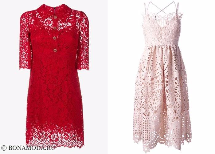 Кружевные платья 2017-2018: резное кружево