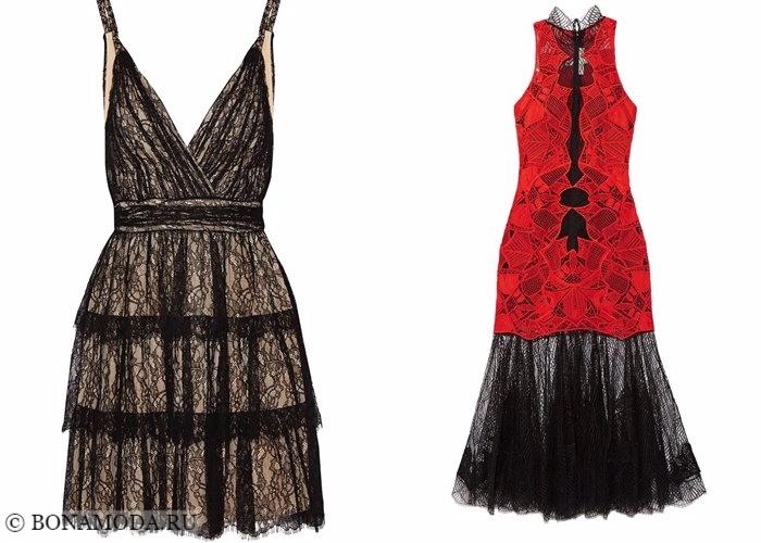 Кружевные платья 2017-2018: коктейльные