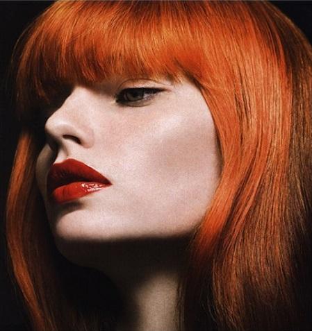 окрашивание Джоша Вуда - ярко рыжий цвет волос