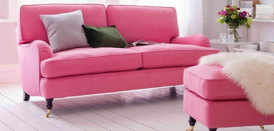 Розовый диван в интерьере: романтика для гостиной