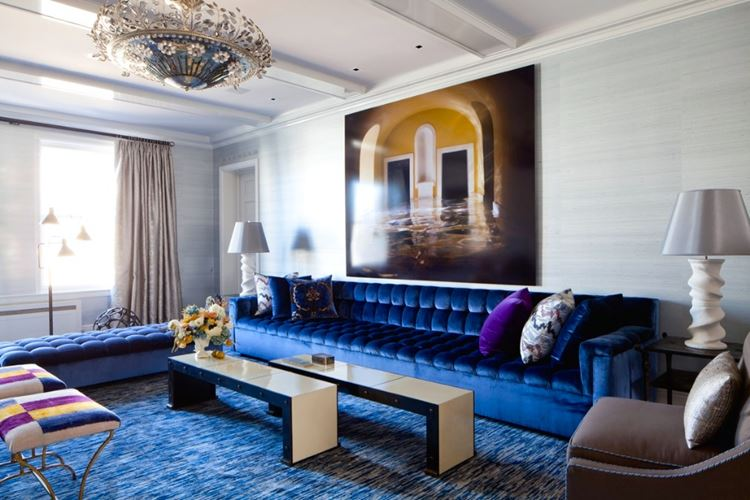 Синий диван фото в интерьере