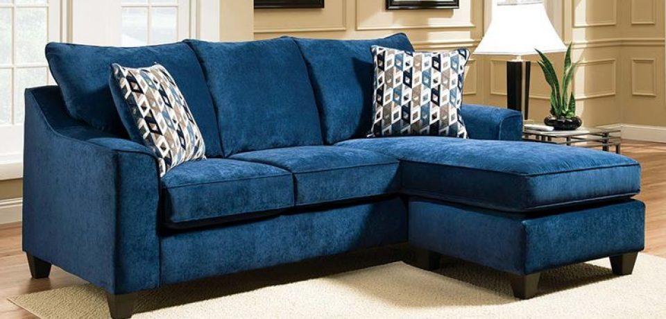 Синий диван в интерьере: стиль и удобство