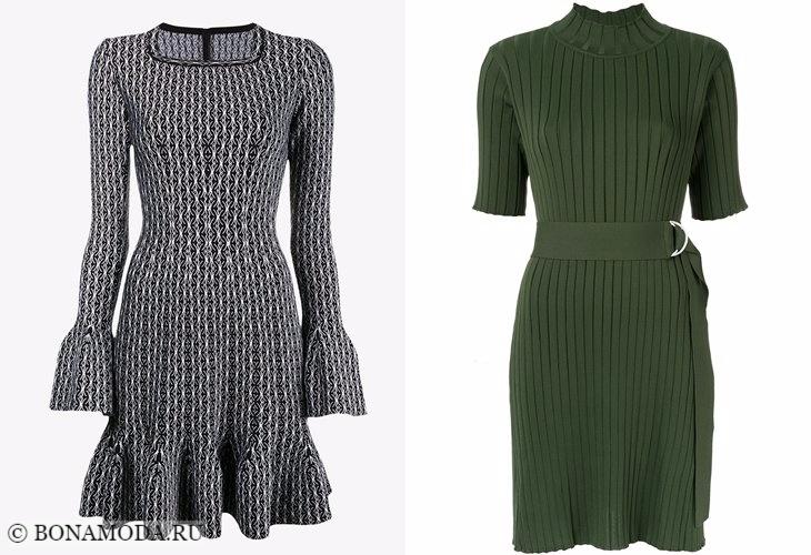 Трикотажные платья 2017-2018: приталенные