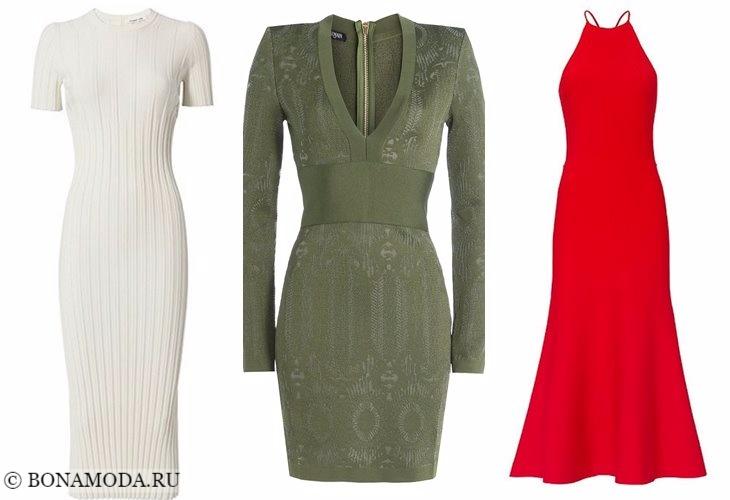 Вязаные платья 2017-2018: минималистичные элегантные
